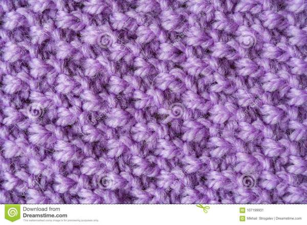 Purple Woolen Yarn As Texture Stock Image Image of