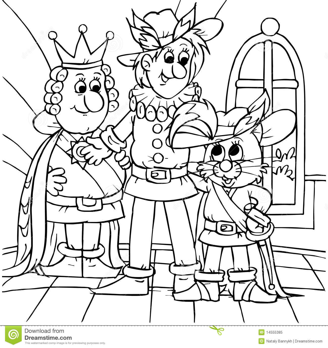 Puss In Boots Marquis And King Stock Illustration