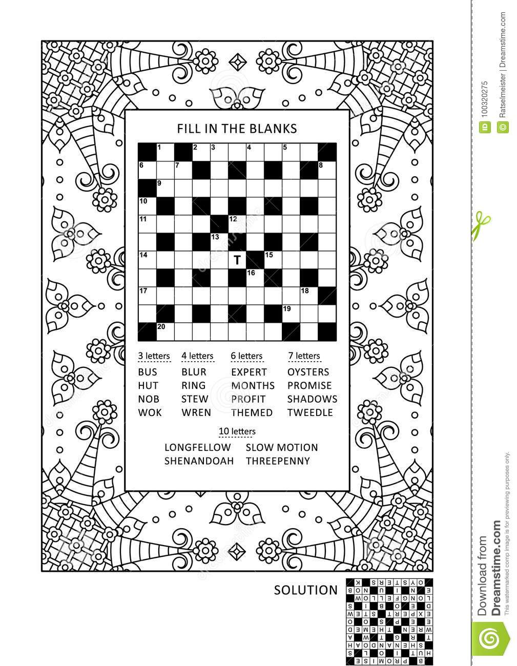 Puzzle And Coloring Activity Page For Adults Stock Vector