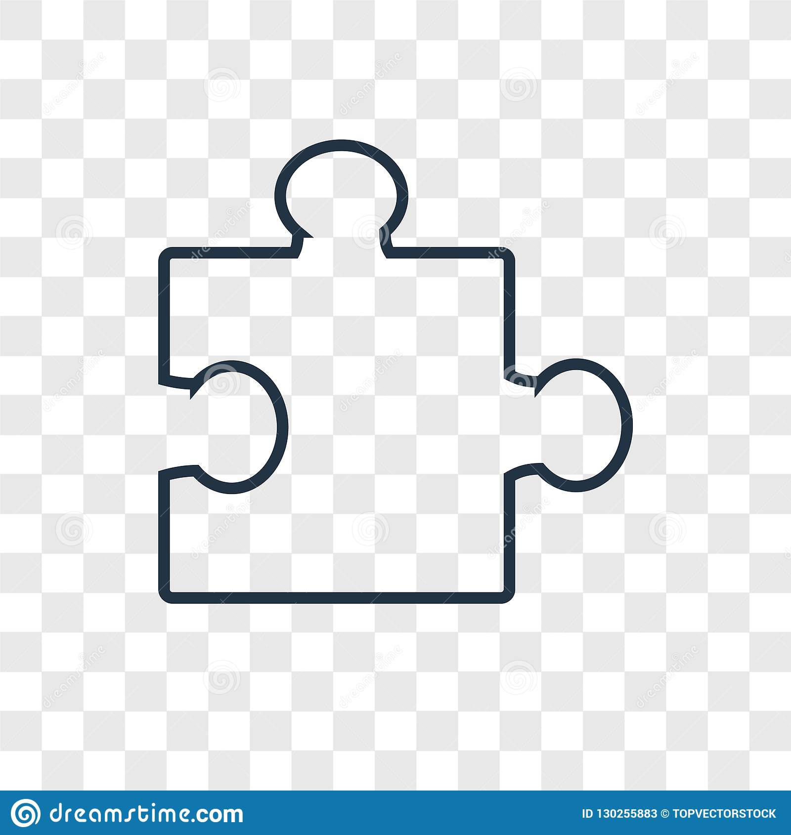 Puzzle Concept Vector Linear Icon Isolated On Transparent