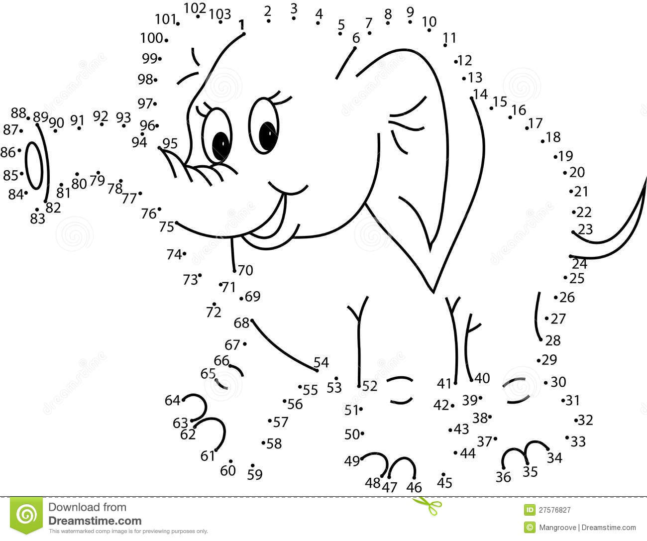 Preschool Dinosaur Dot To Dot Worksheet