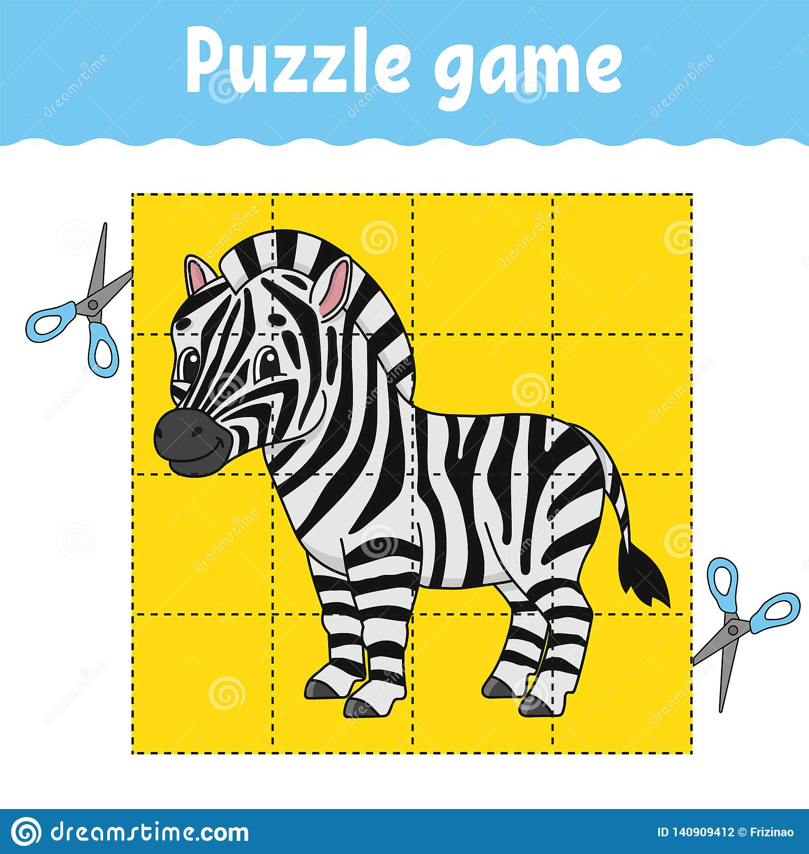 Puzzle Game For Kids Education Developing Worksheet