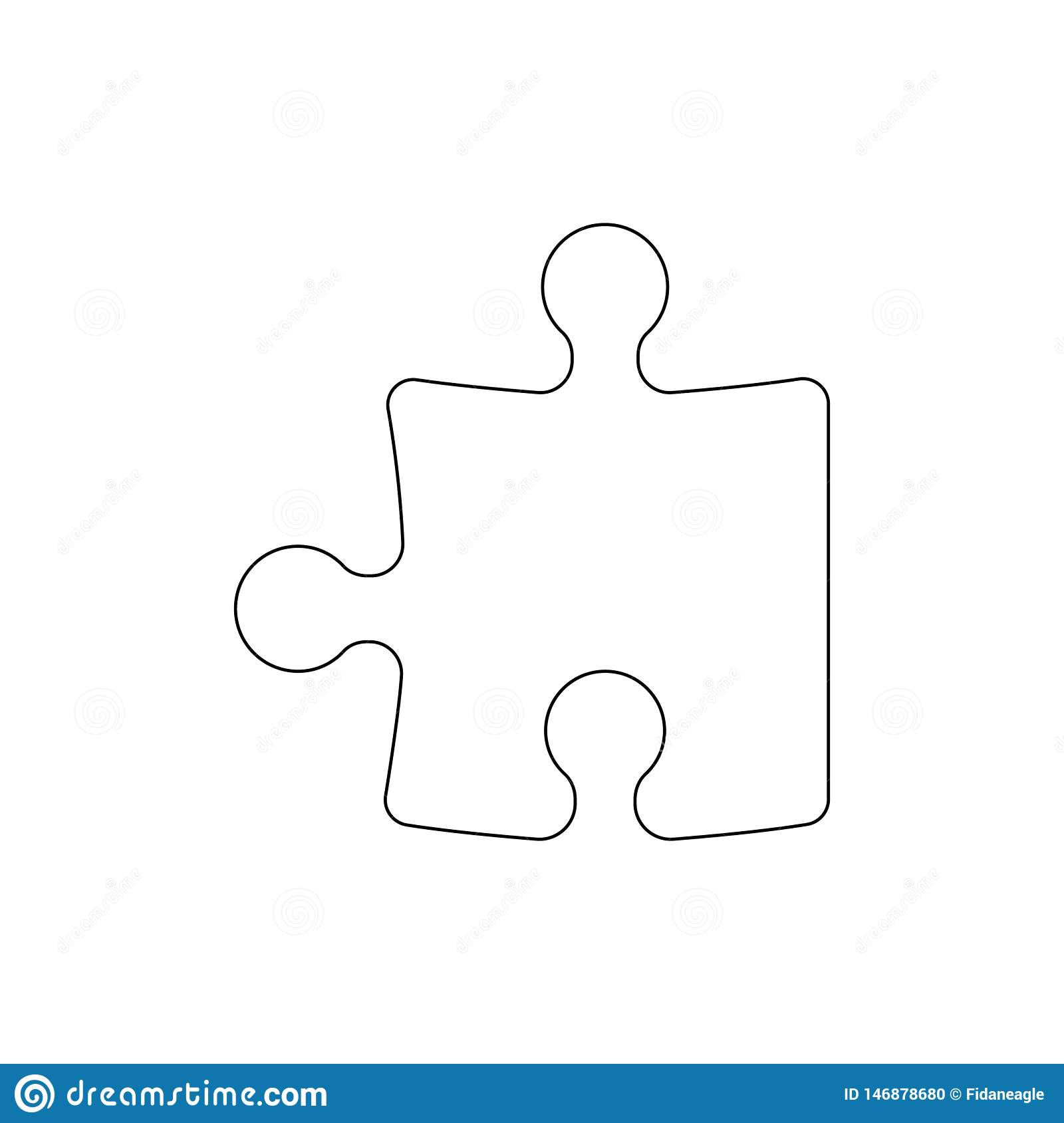 Puzzle Piece Outline Icon Signs And Symbols Can Be Used