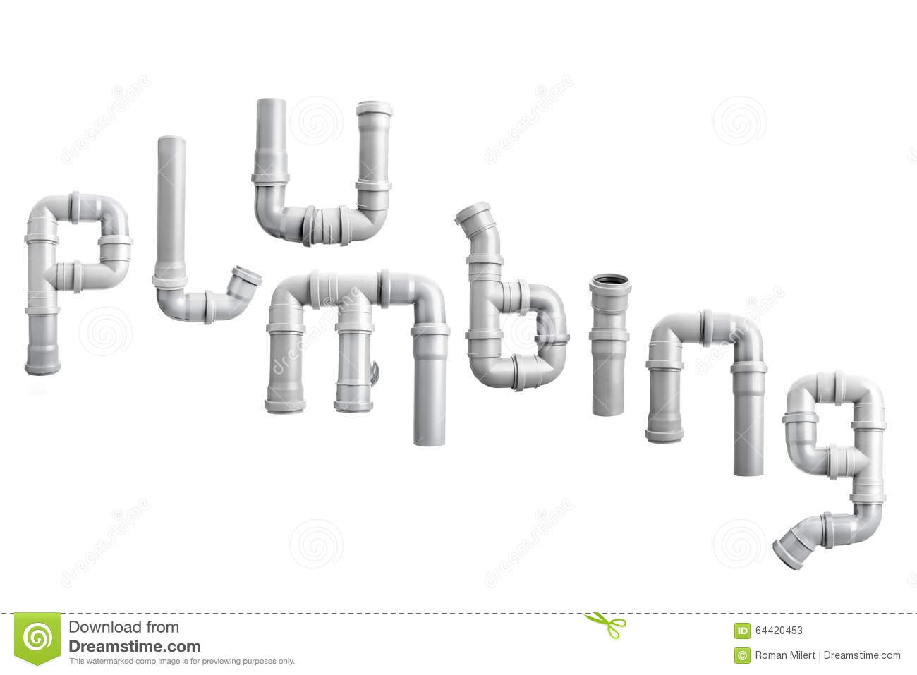 Pvc Pipe Plumbing Word Stock Illustration Illustration Of