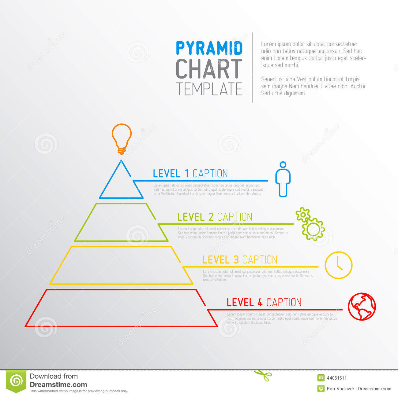 printable pyramid diagram leg muscles and ligaments chart template stock vector image 44051511