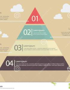 Pyramid chart flat style infographic also stock vector illustration of rh dreamstime