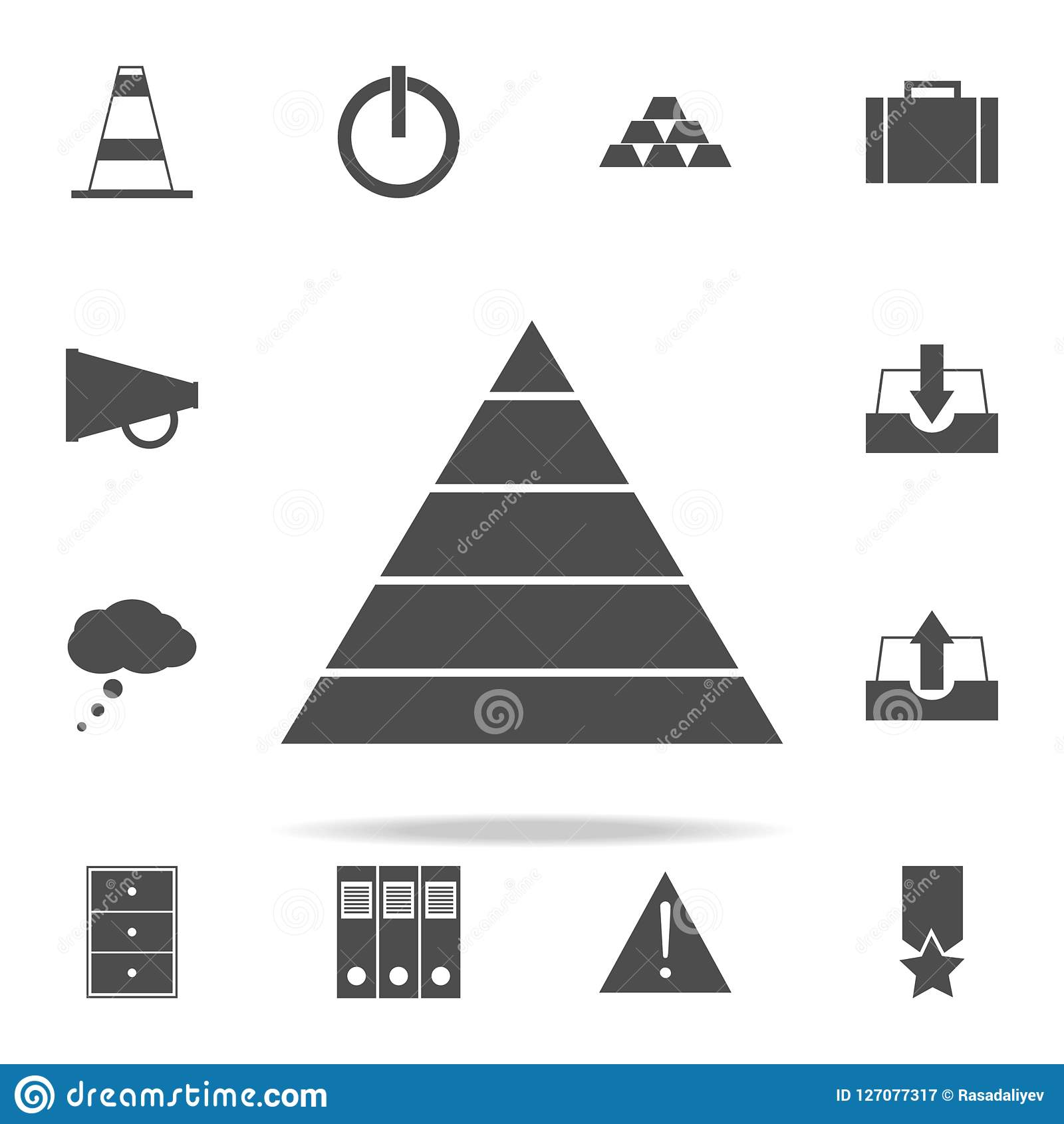hight resolution of pyramid diagram icon web icons universal set for web and mobile
