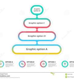 pyramid 4 step process chart infographics with option circles f [ 1300 x 1065 Pixel ]