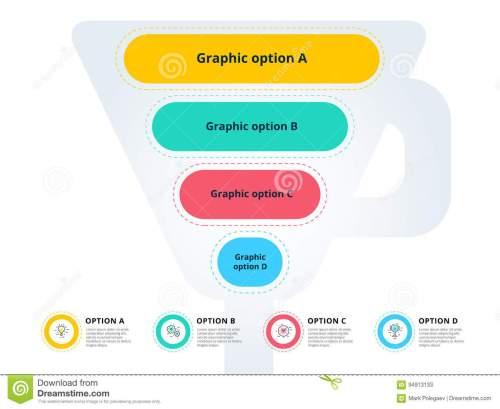small resolution of pyramid 4 step process chart infographics with option circles f