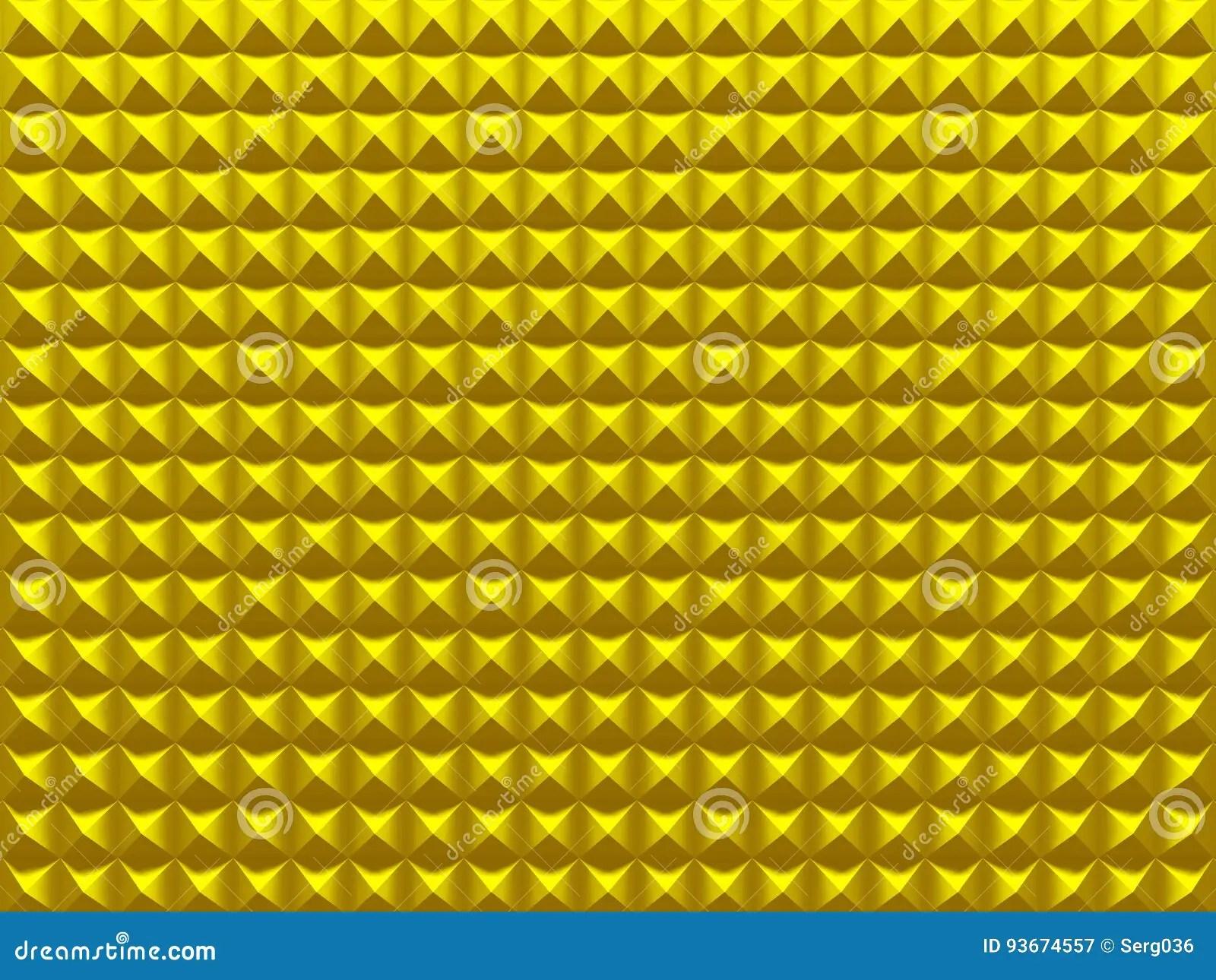 Pyramids. Yellow Geometric Background Texture Stock