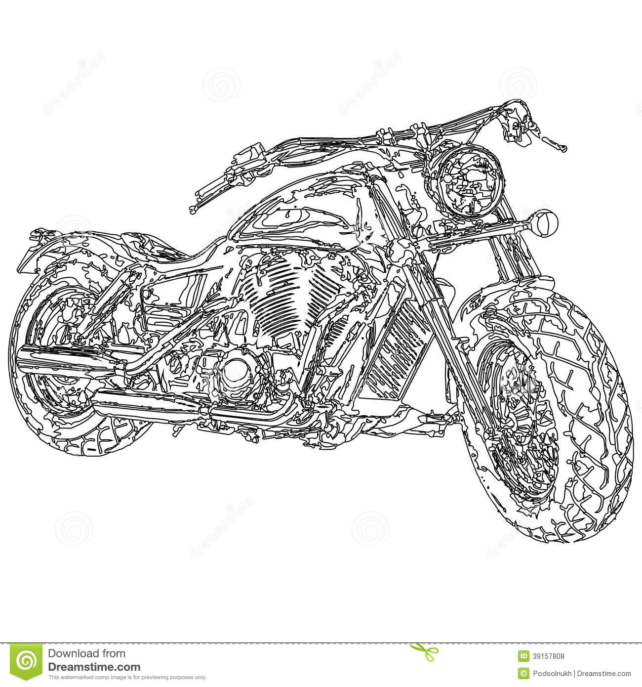 Quad Bike Motorcycle 3d Model Stock Illustration