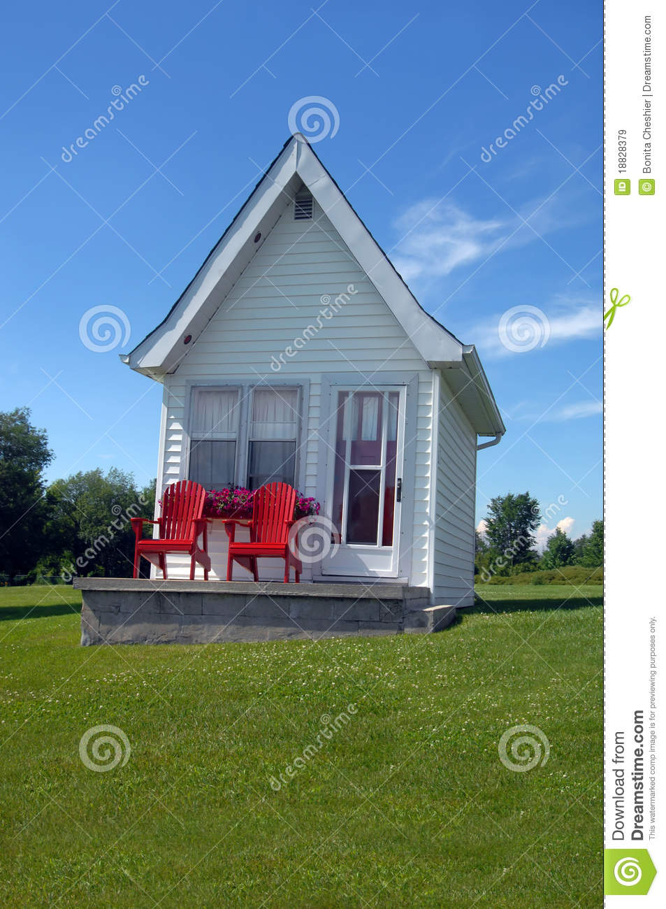 wooden porch chairs teen bean bag chair quaint cottage royalty free stock images - image: 18828379