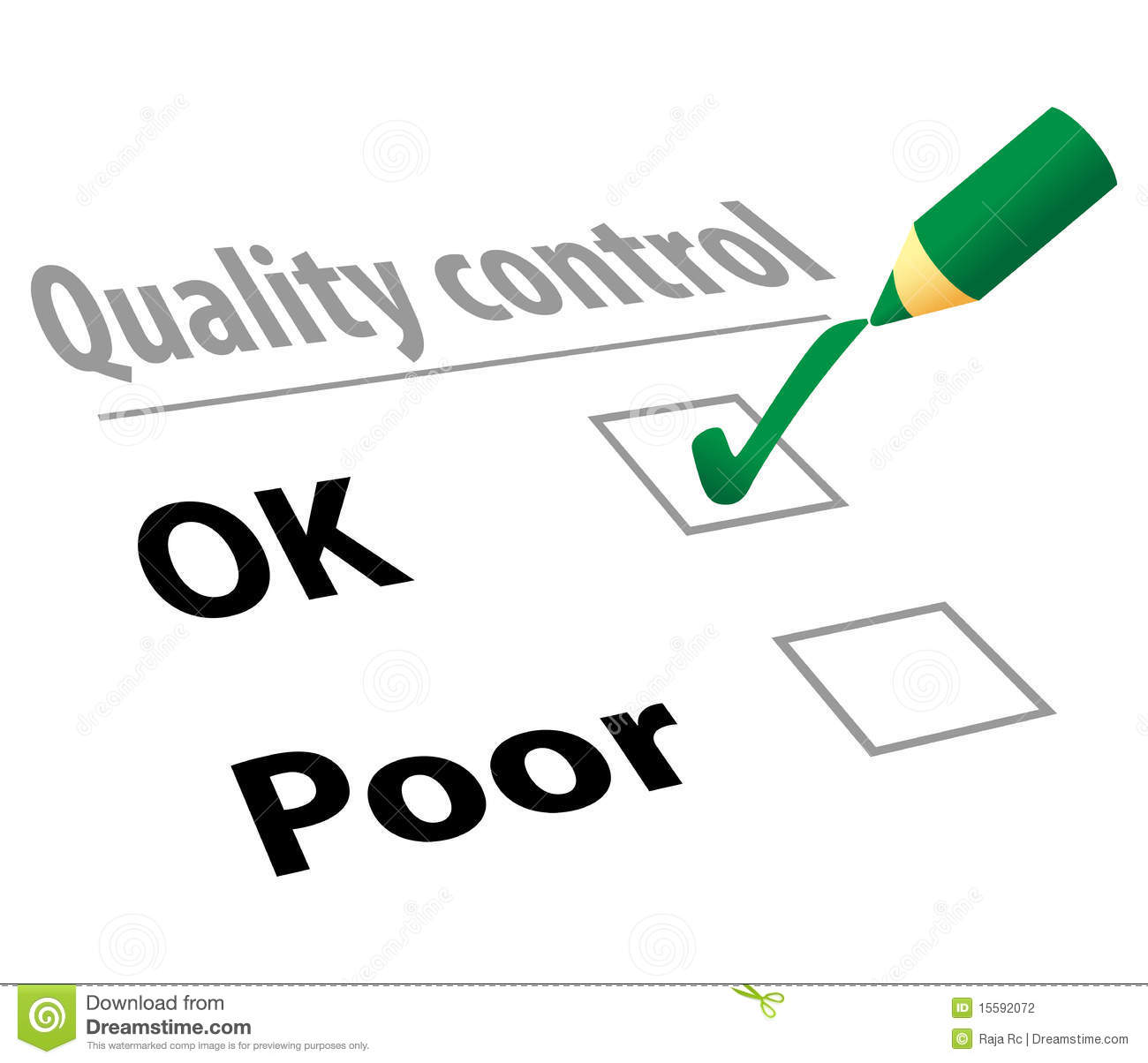 Quality Control Stock Vector Illustration Of Good