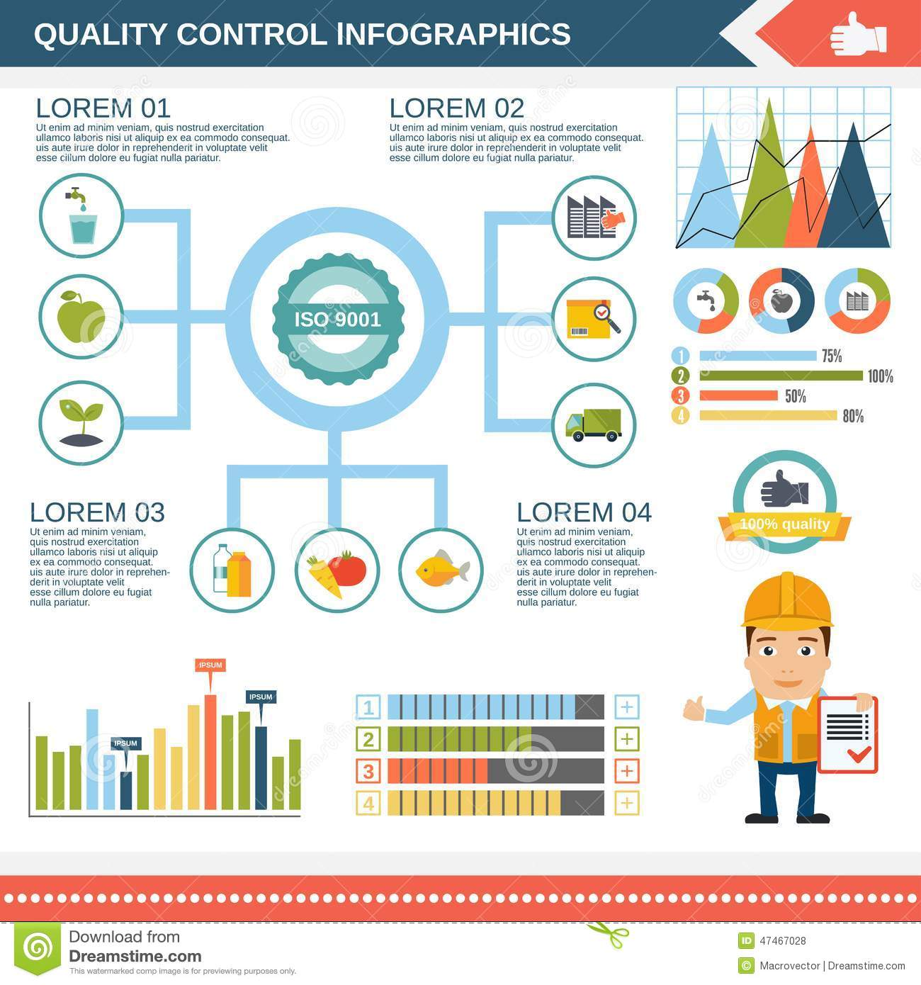 Quality Control Infographic Stock Vector