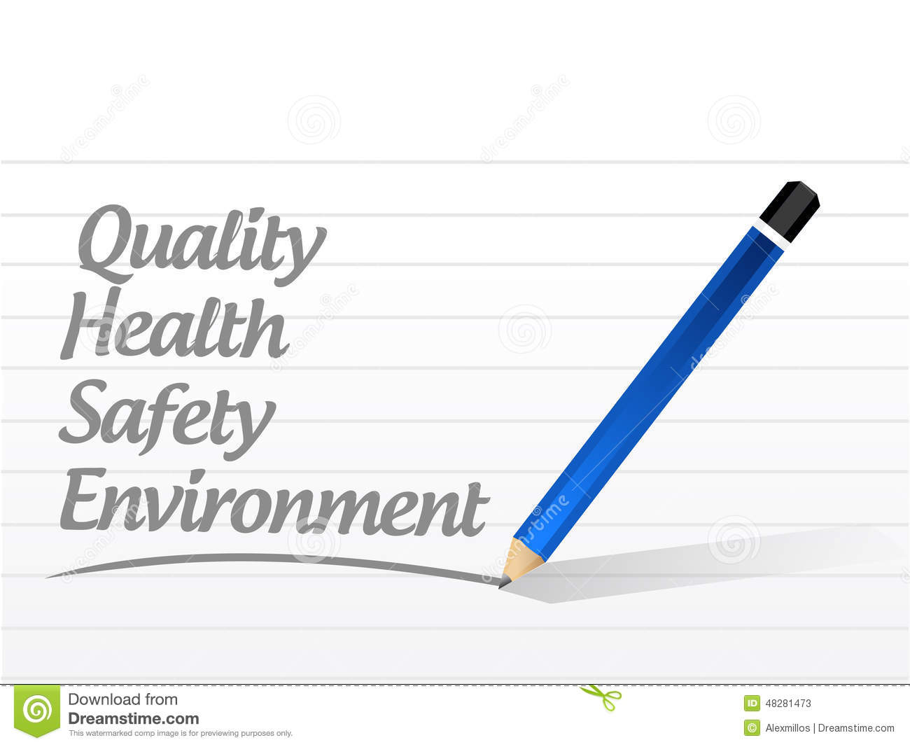 Quality Health Safety And Environment Stock Illustration
