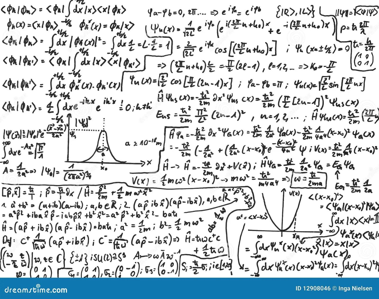 Quantum Mechanics Royalty Free Stock Image