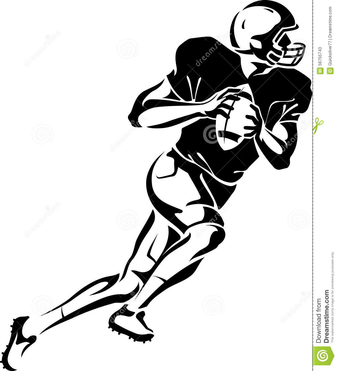 Quarterback Football Player Stock Vector
