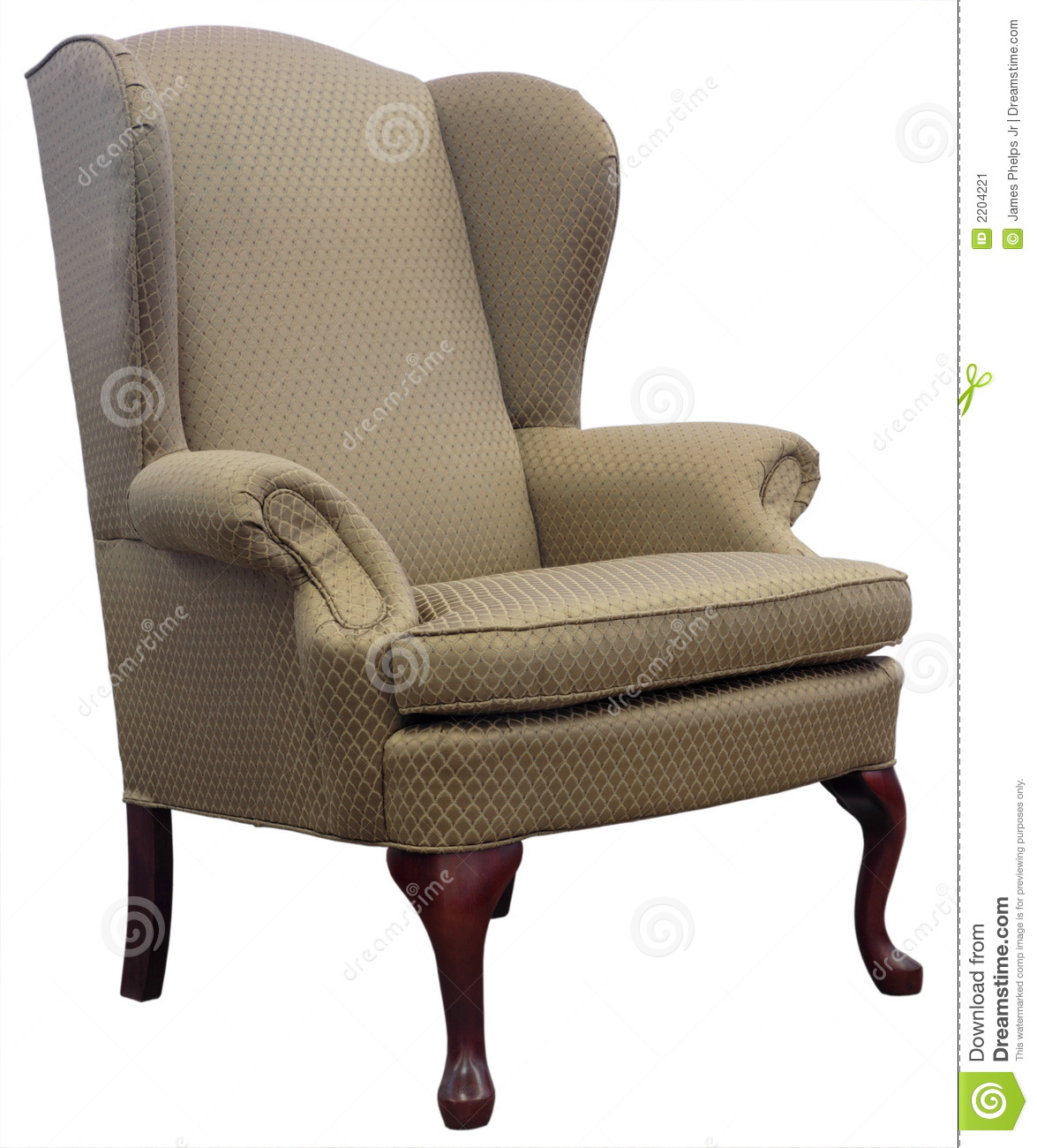 Queen Anne Wingback Chair Queen Anne Style Wing Chair Stock Image Image 2204221