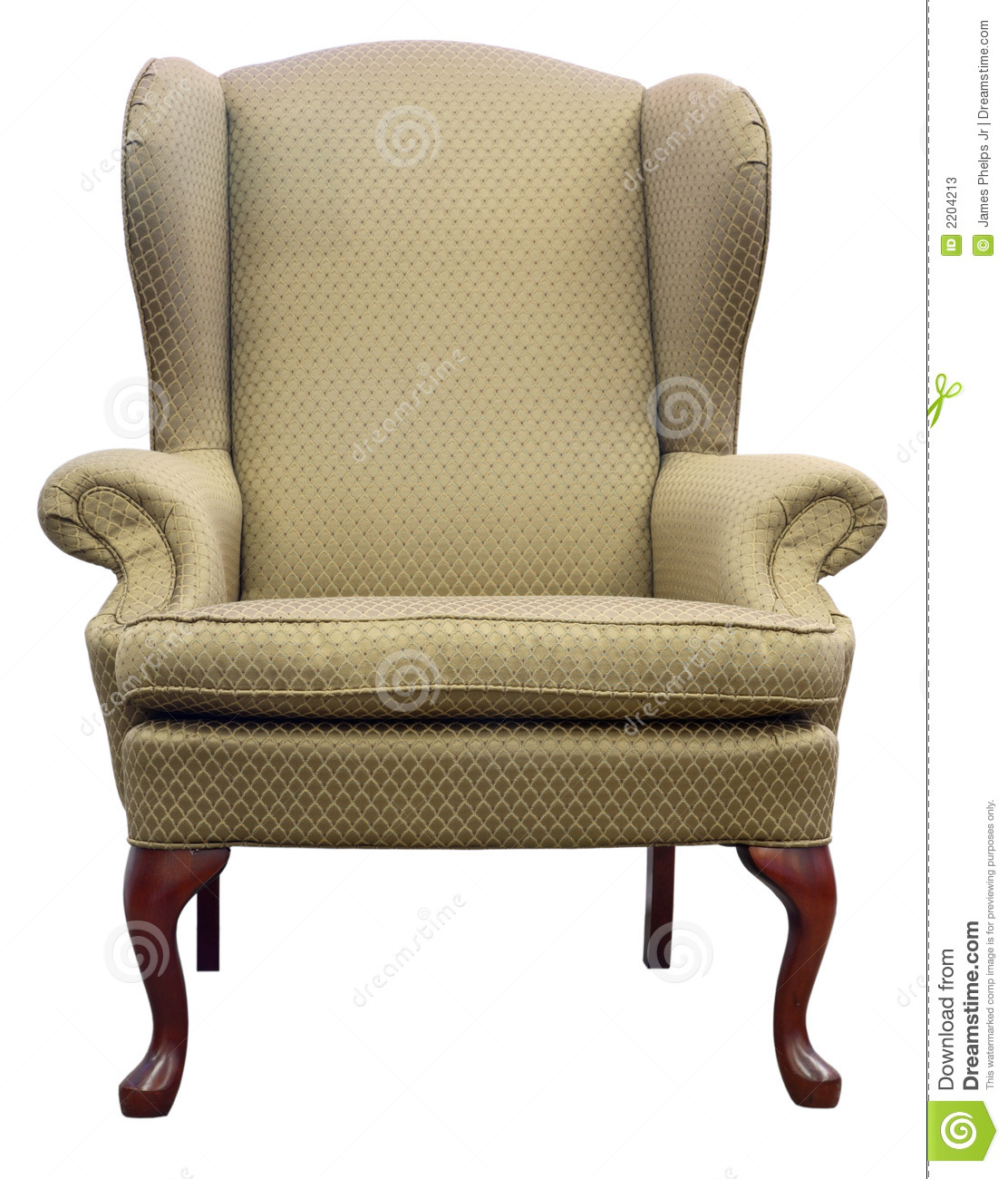 Queen Anne Wingback Chair Queen Anne Wing Chair Stock Image Image Of Anne Design