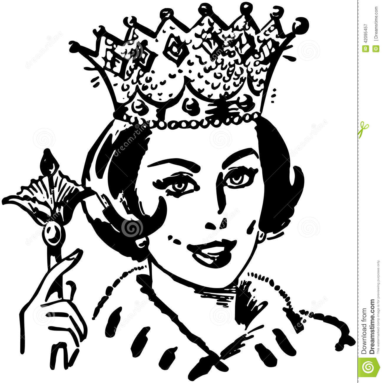 Queen Of The Household Stock Vector