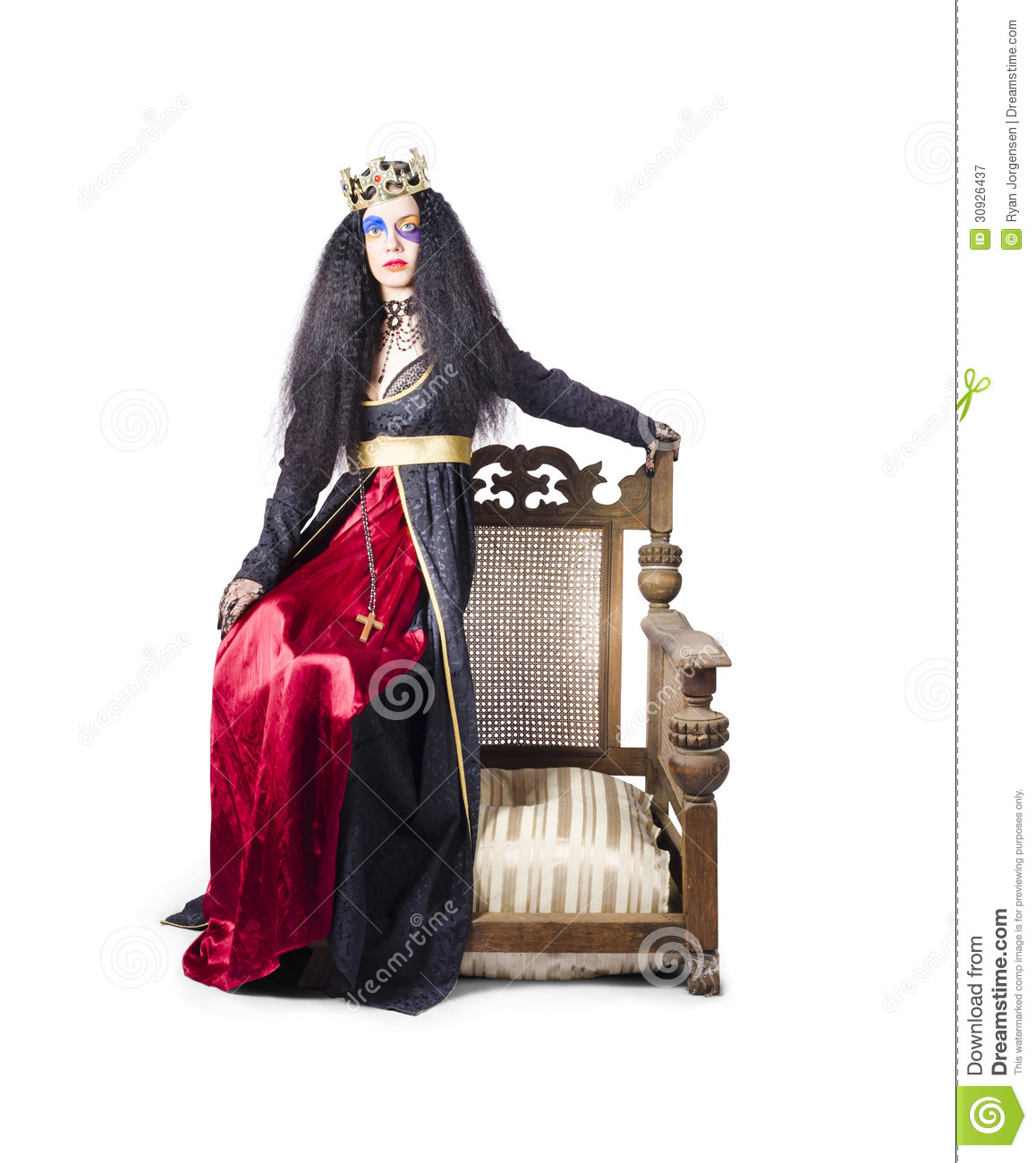how to make a queen throne chair slipper cover sitting on stock image of dress