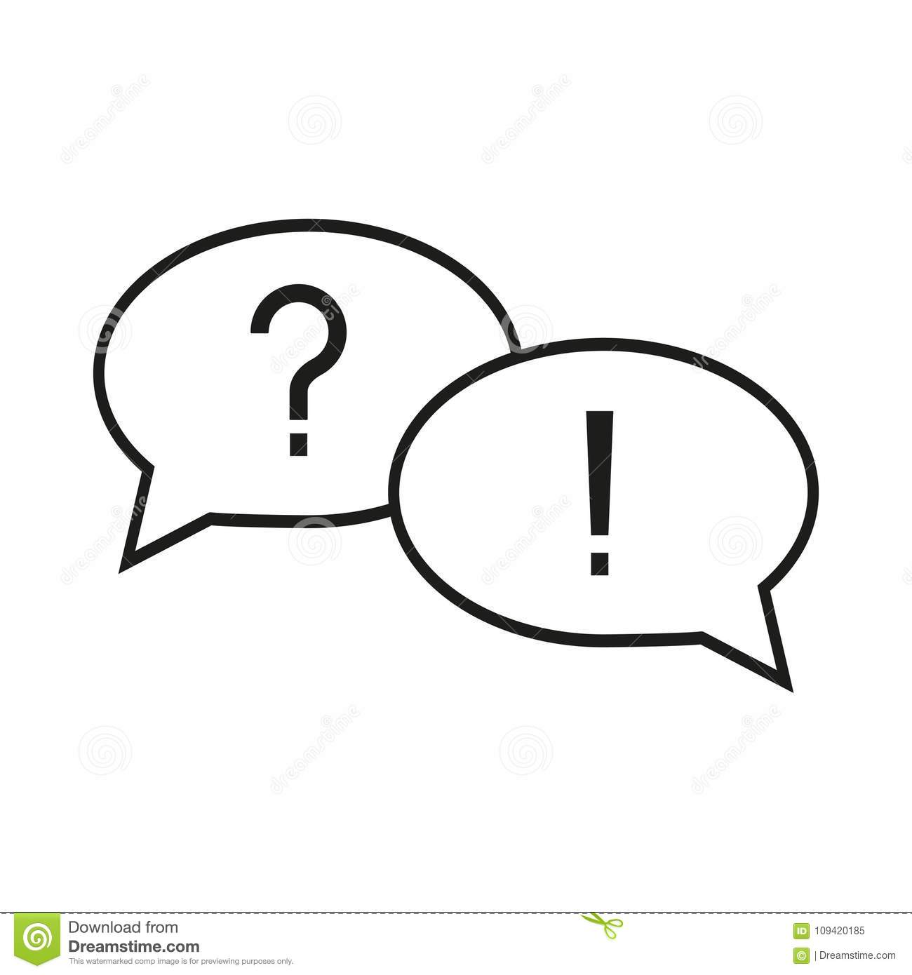 Question and answer icon stock vector. Illustration of