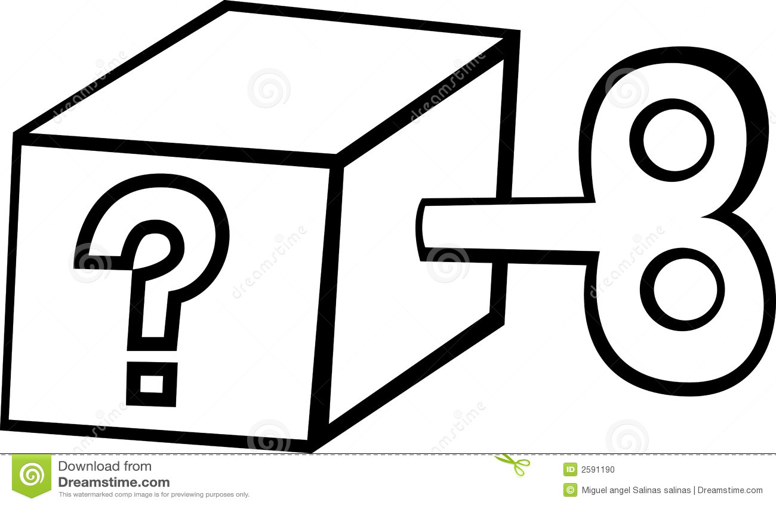 Question Mark Box Stock Vector Illustration Of
