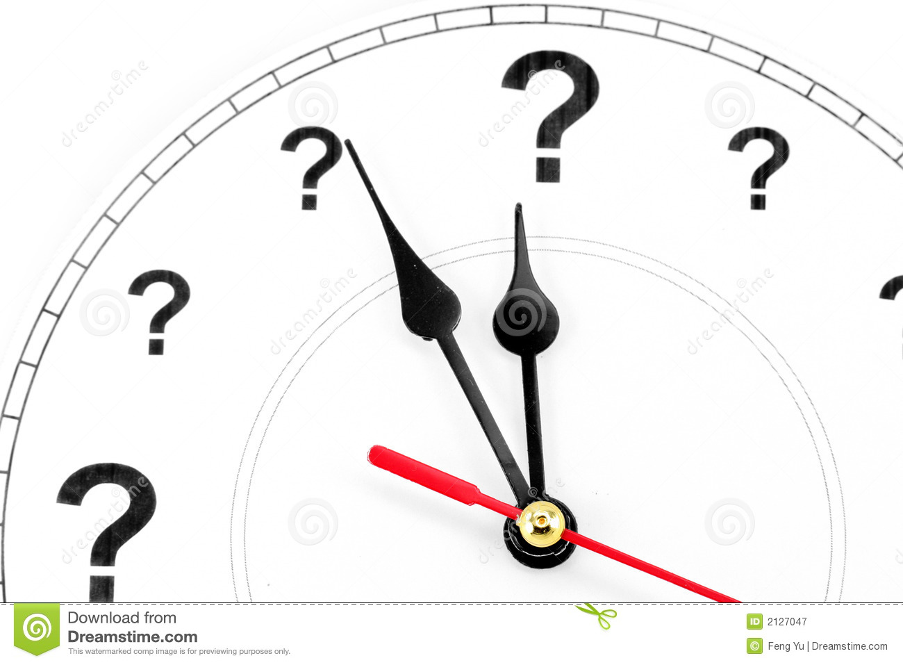 Question Mark Clock Royalty Free Stock Photography