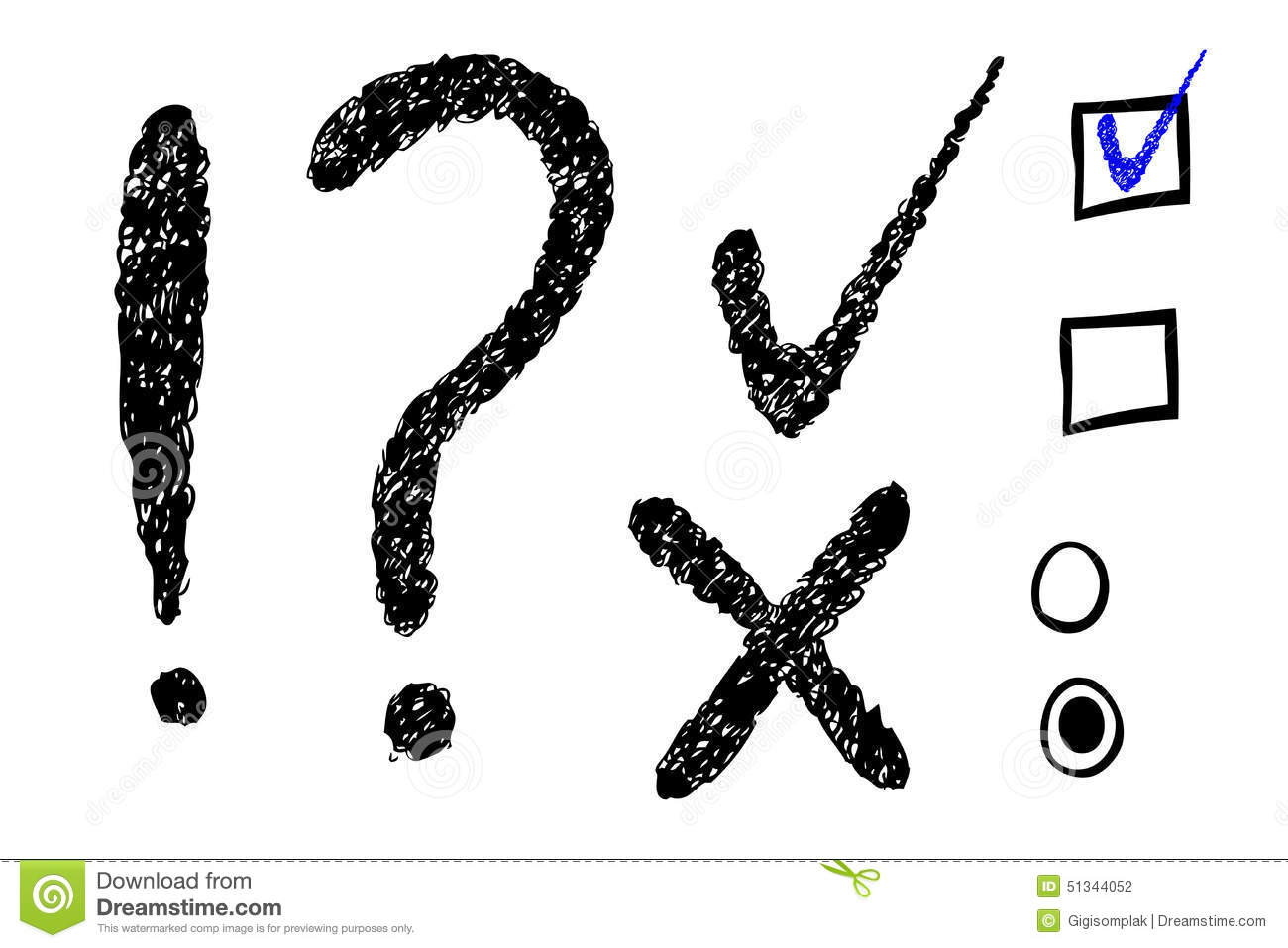 Question Mark Exclamation Amp Checklist Stock Illustration