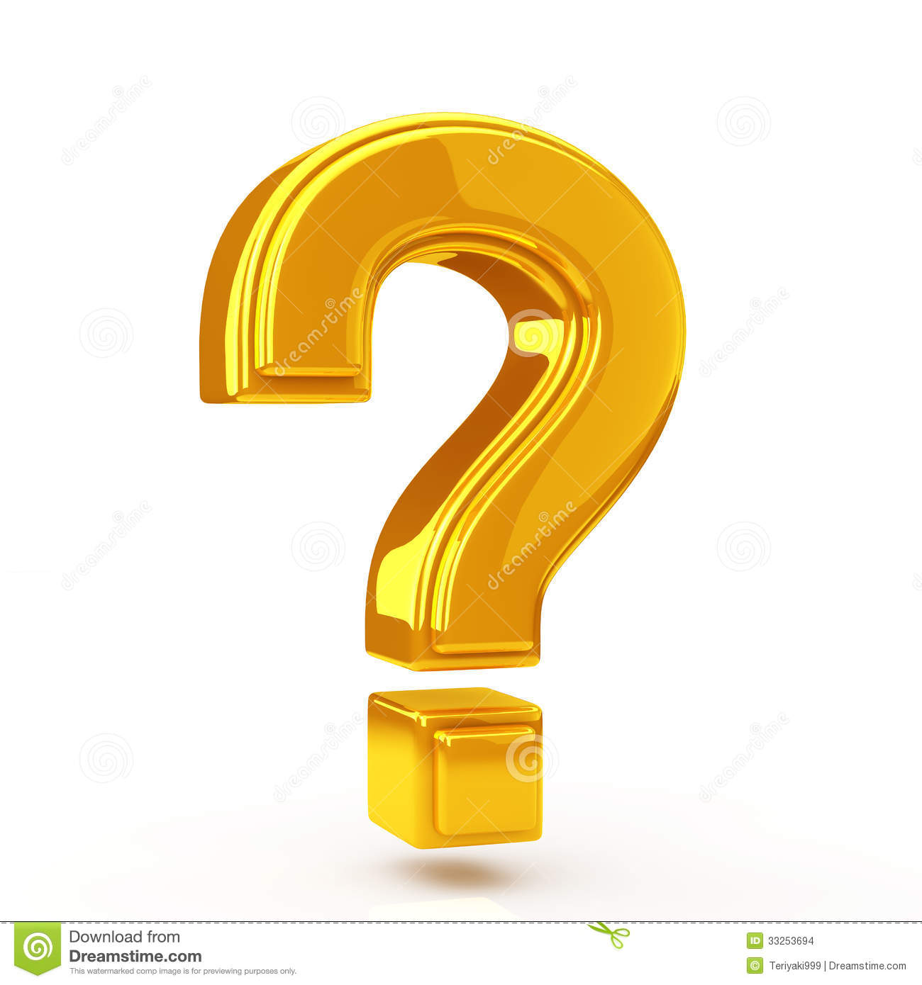Question Mark Golden Stock Images  Image 33253694