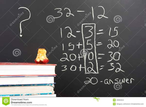 Questioning Math. Stock Of Subtract