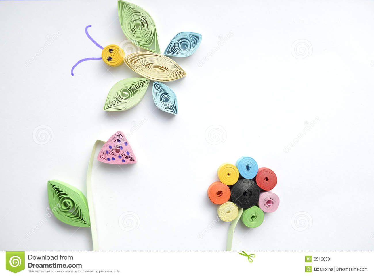 Quilling Stock Image Image 35160501