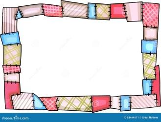 quilt border sewing patchwork making holes illustration royalty