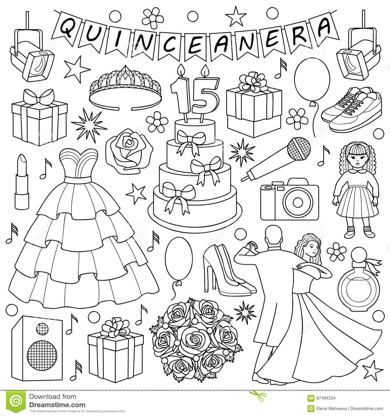 Quinceanera Cartoons, Illustrations & Vector Stock Images