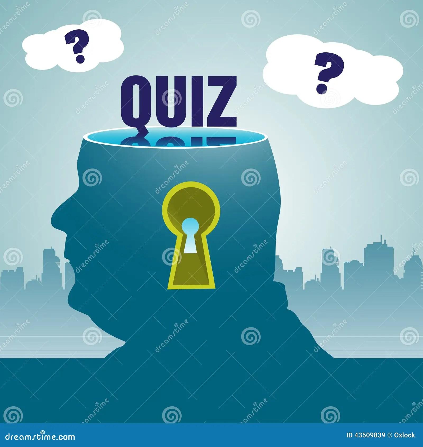 Quiz Theme Stock Vector