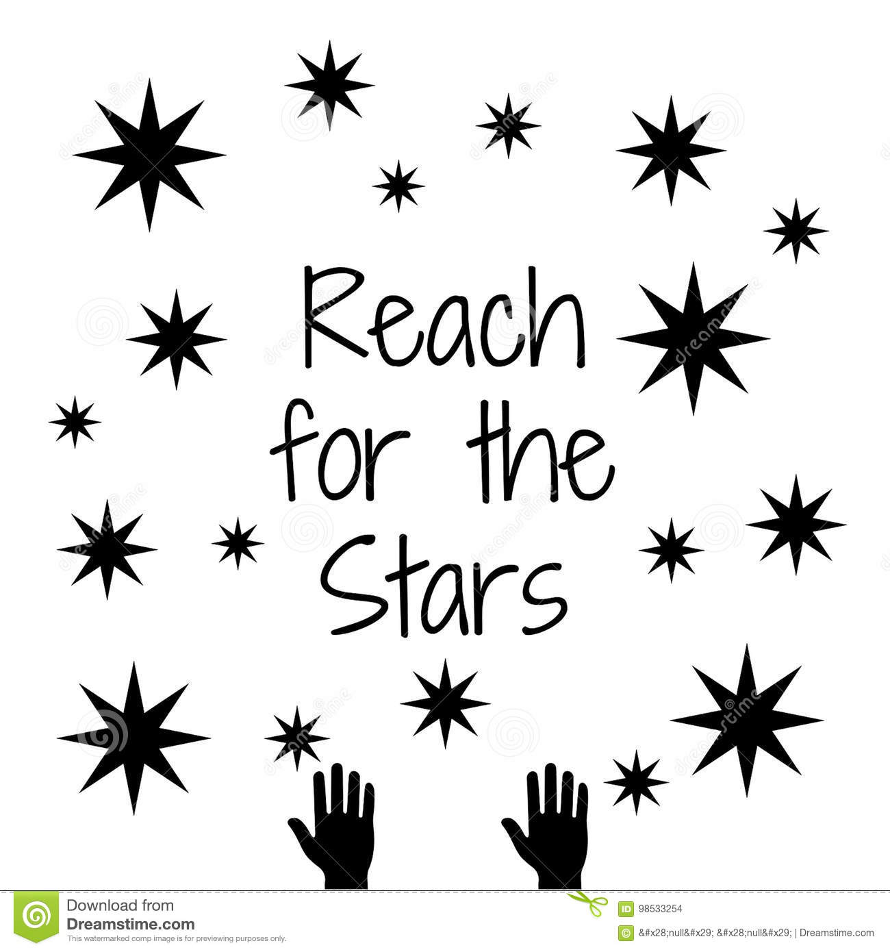 Quote Reach For The Stars Stock Illustration