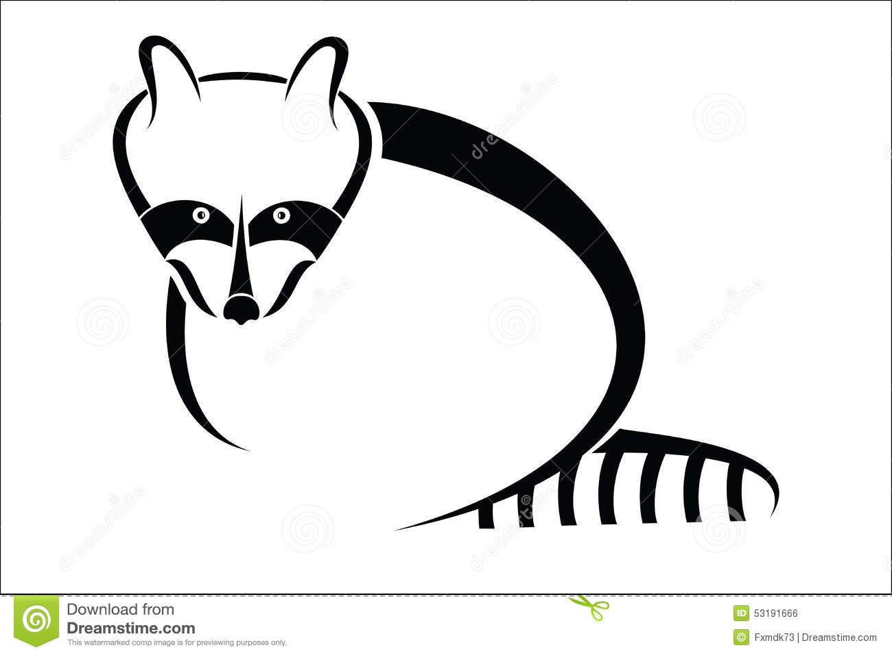 Raccoon Symbol Vector Illustration