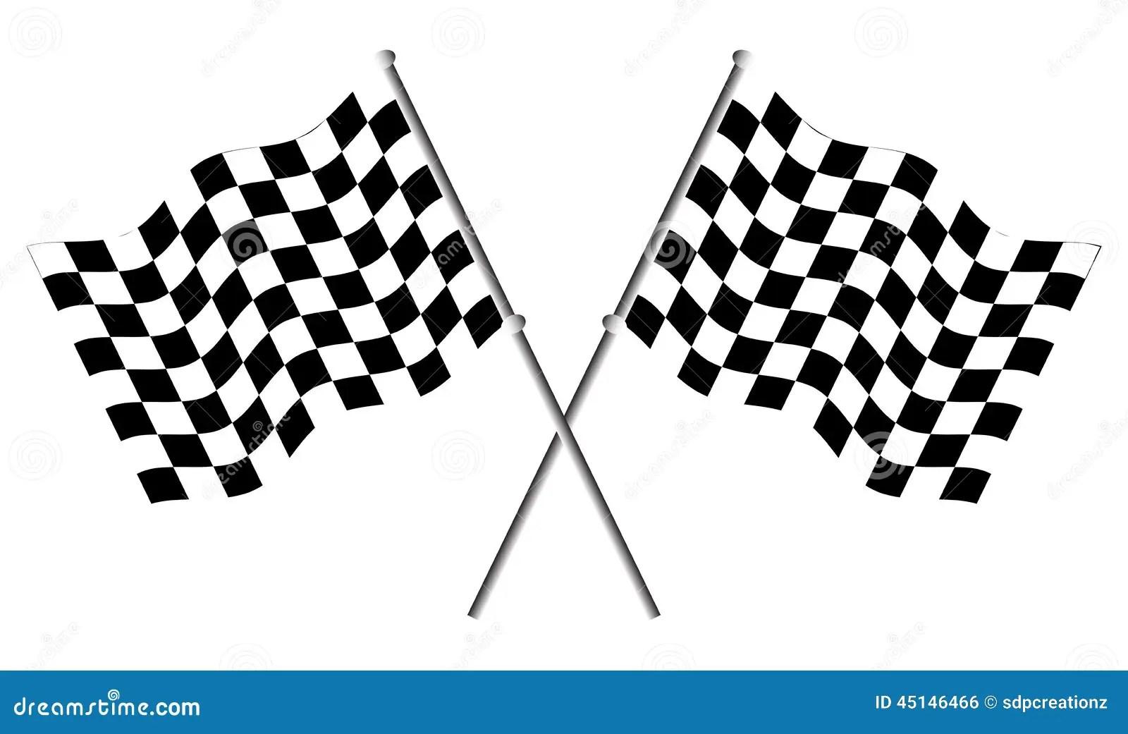 Race Flags Stock Vector