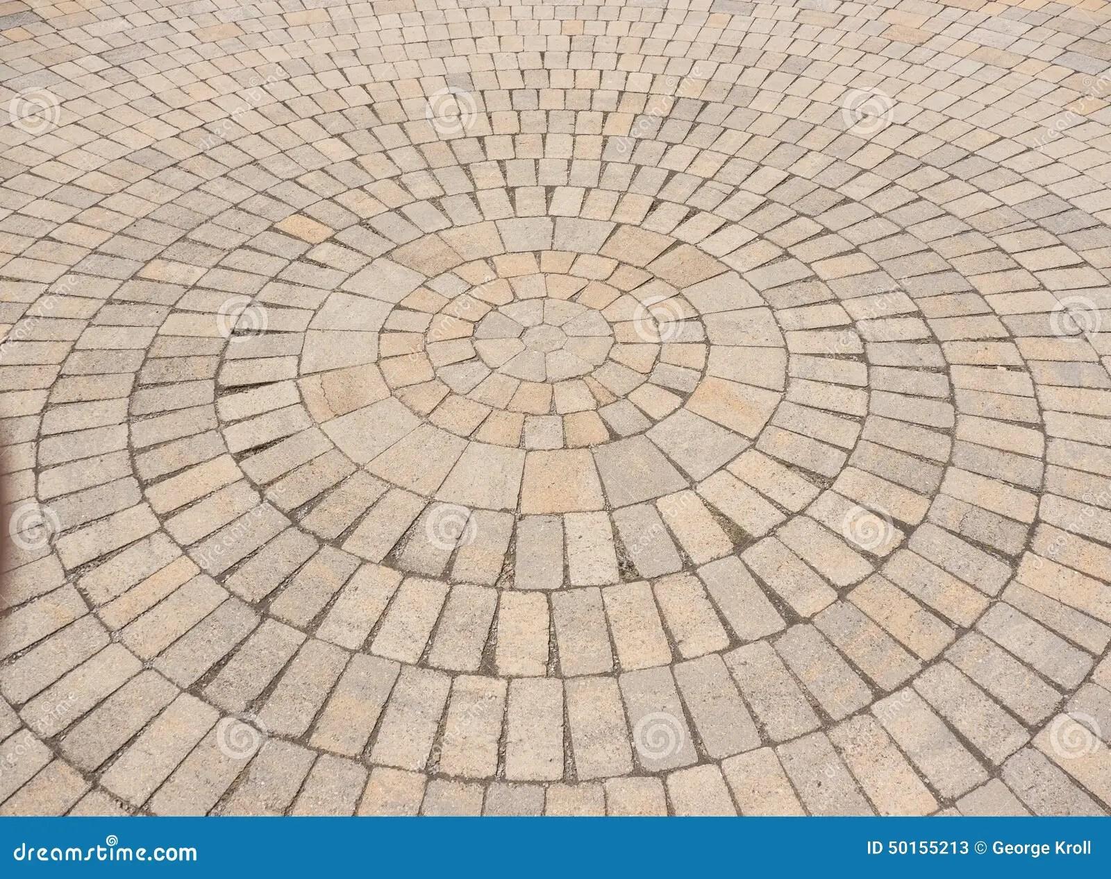 Radial Paving Stone Pattern Stock Image  Image 50155213