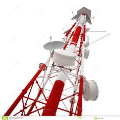 Cellular Phone Tower Signal Diagram 2009 Yamaha Raptor 700 Wiring Radio Stock Illustration Image Of Technology