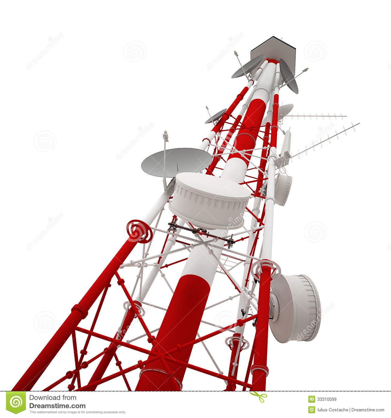 cellular phone tower signal diagram ford 8n wiring 6 volt radio stock illustration image of technology