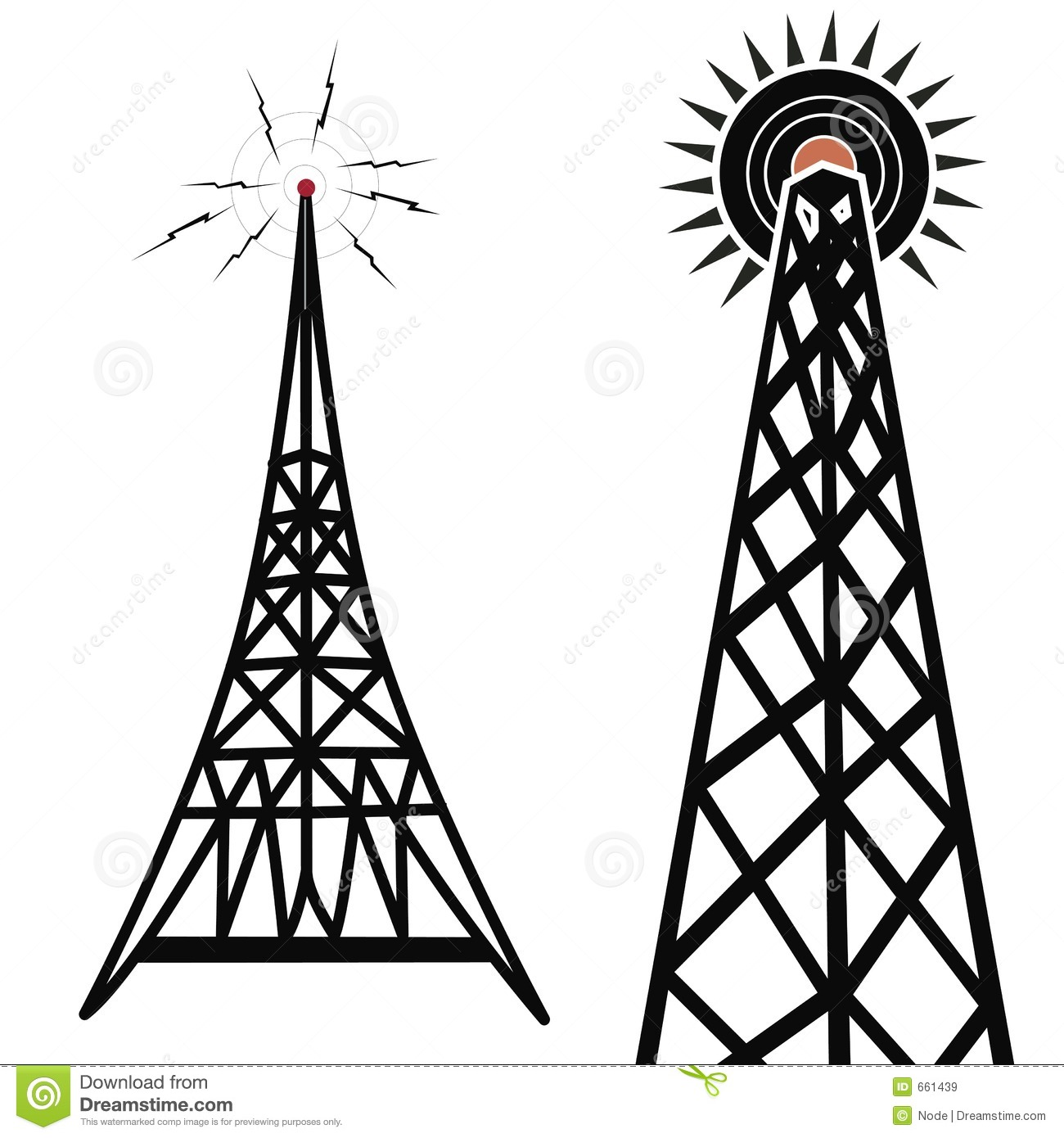 Radio Towers Royalty Free Stock Images