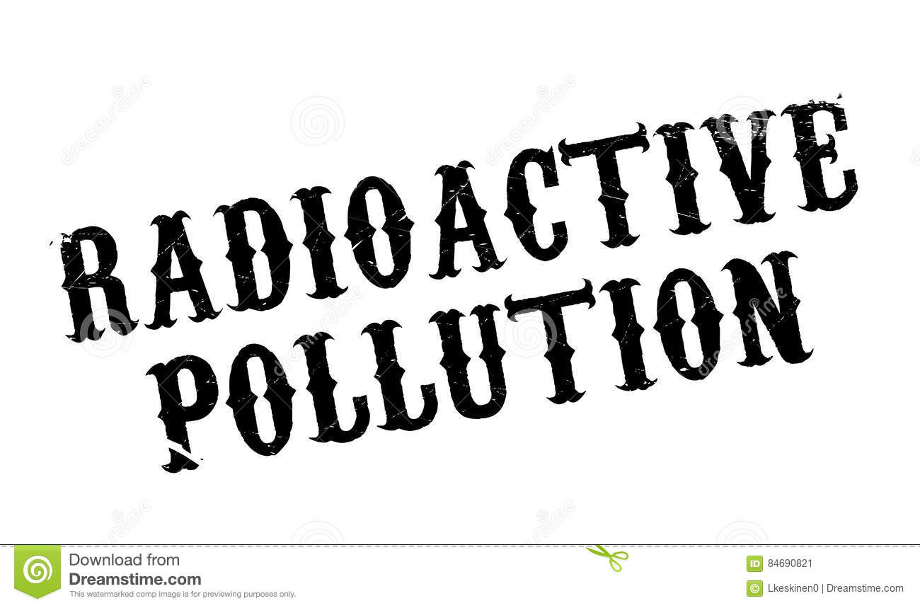 Radioactive Pollution Stock Photography
