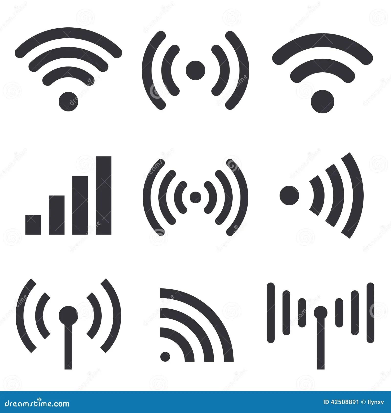 Radiogolven Vector Illustratie Illustratie Bestaande Uit