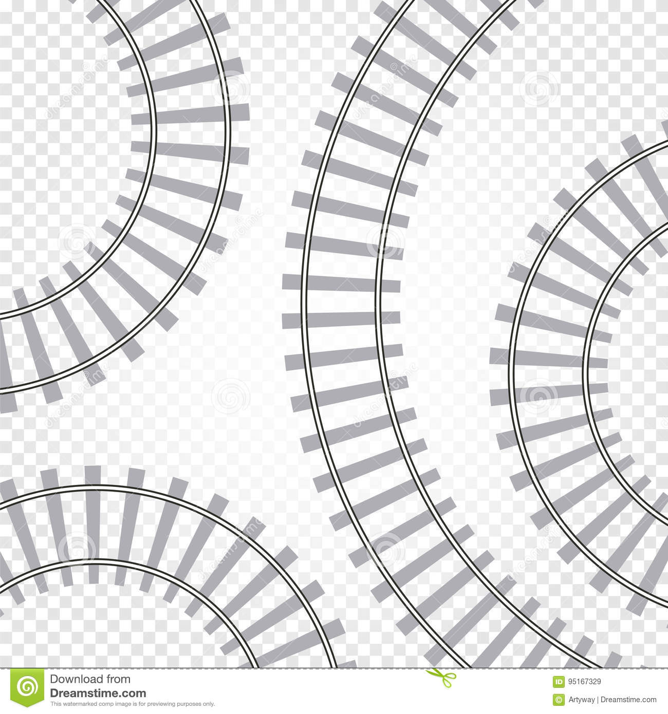 Winding Railroad Track Stock Illustrations 55 Winding