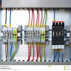4 Wire Measurement Circuit 1992 Chevy S10 Stereo Wiring Diagram Rail Terminal Box Stock Photo. Image Of Current, - 34812020