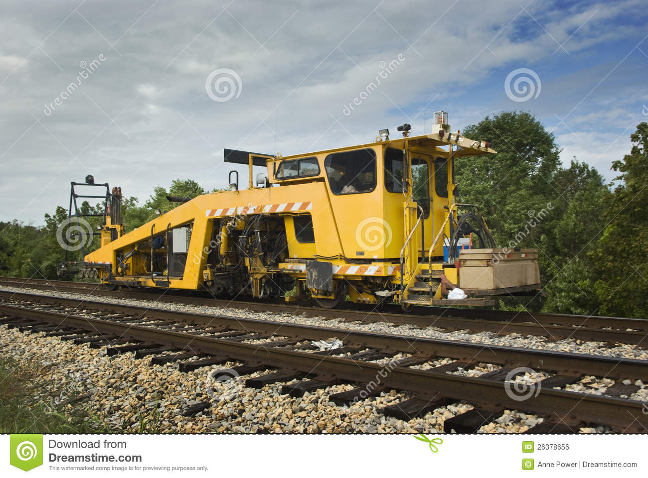 Railroad Production Switch Tamper Royalty Free Stock Image