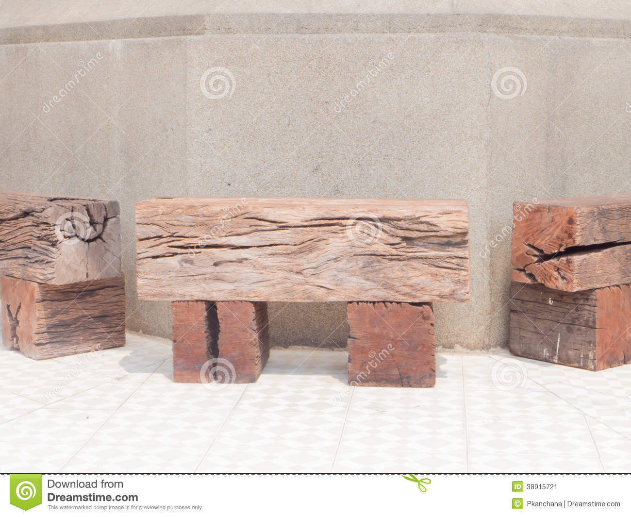 Railroad Ties Bench Stock Image Image Of Outside