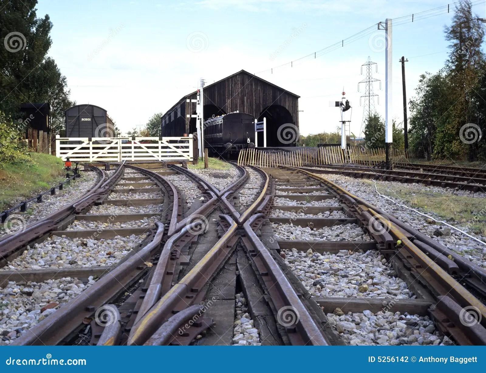 Railway Junction Stock Photo Image Of Train Level