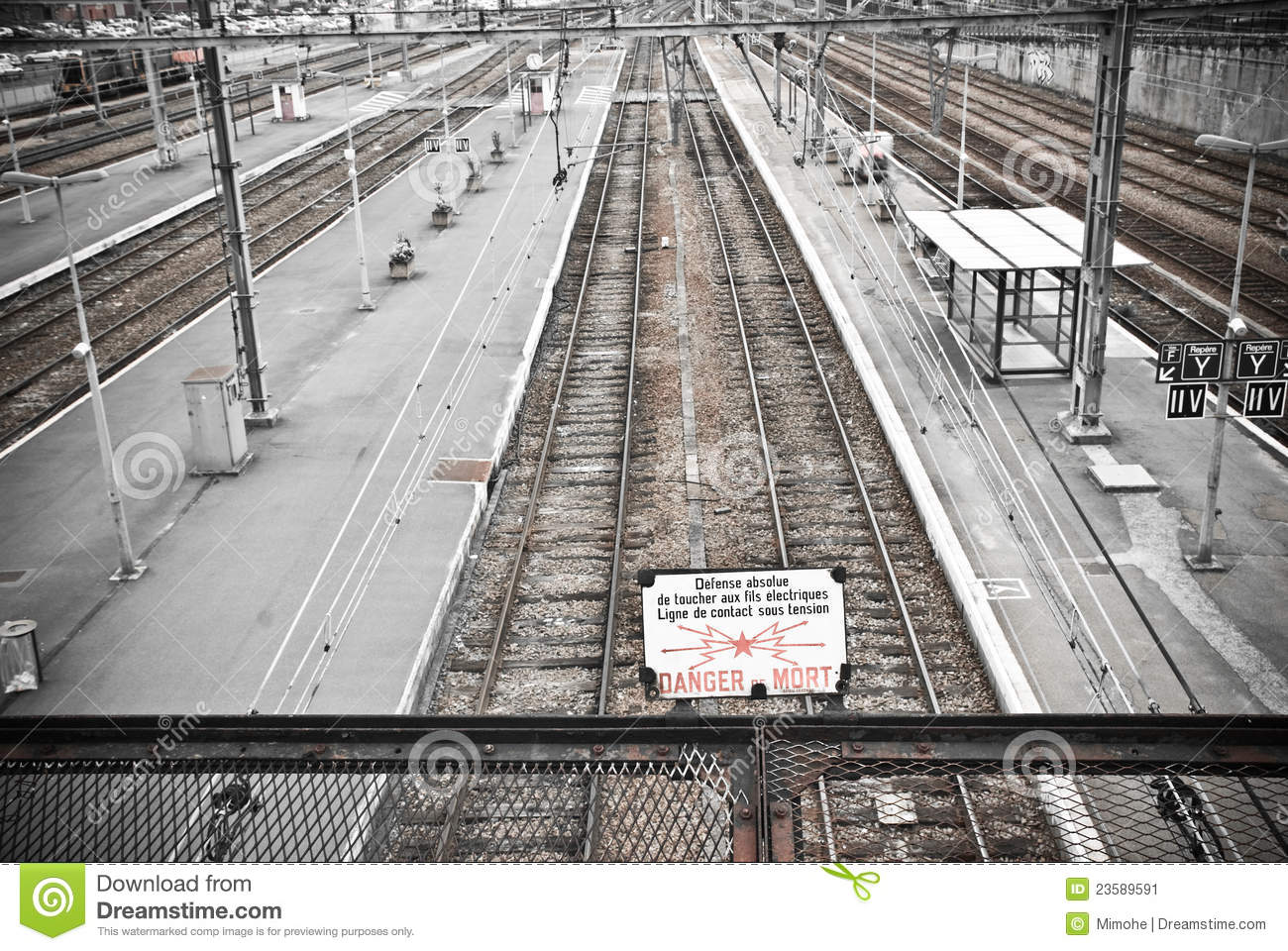 Railway Perspective Stock Image Image Of Infrastructure